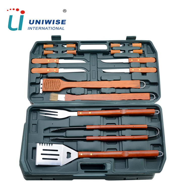 BBQ Tools Set 18 Piece Kit Case Stainless Steel Grill Cooking Outdoor Utensils
