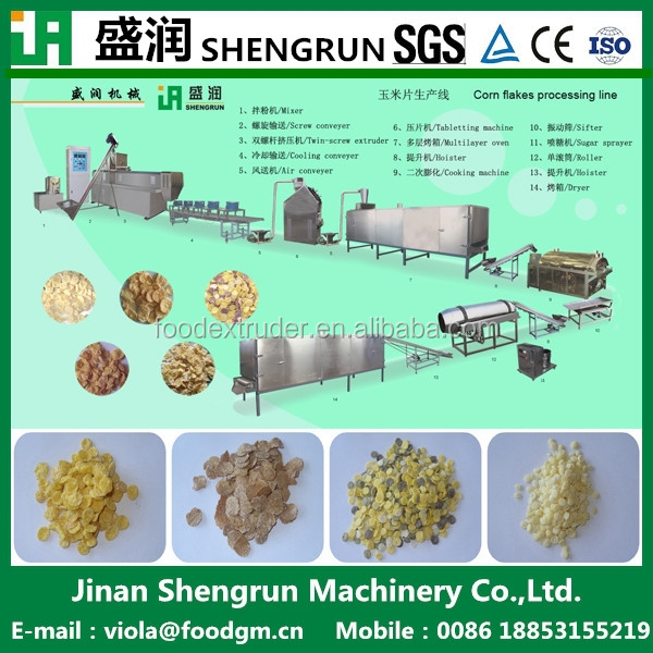 breakfast cereal/corn flakes making plant manufacturer