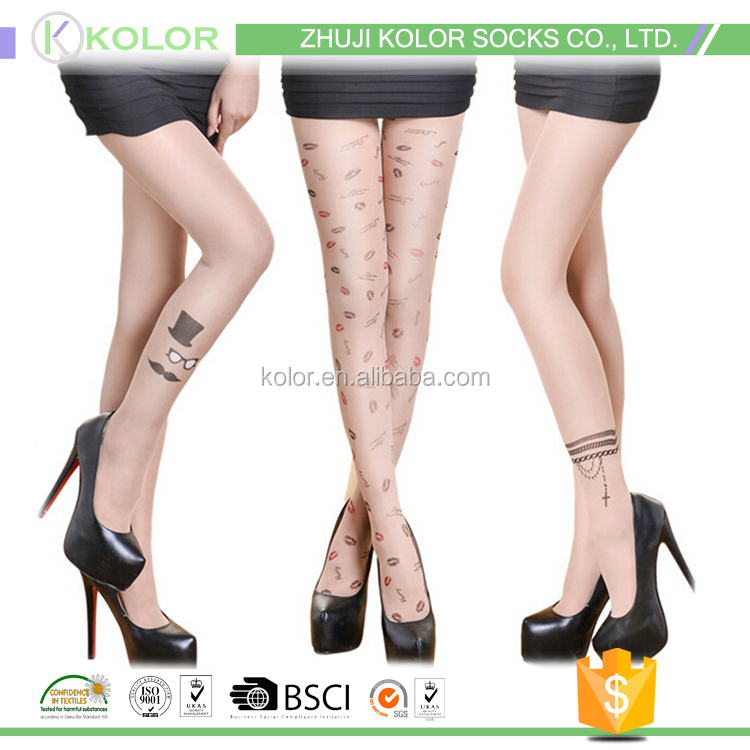 KOLOR-A 50285 tattoo printed tights