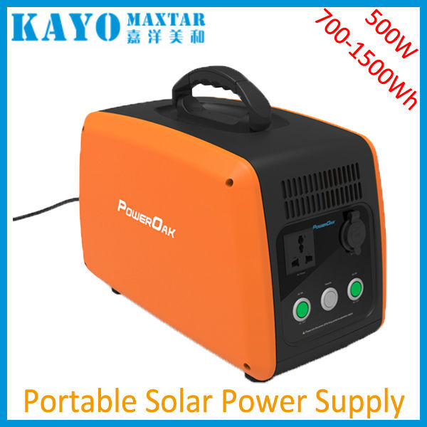 500W portable power station rechargeable lithium battery best home solar kits with AC DC output