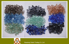 Reflective Decorative Fireglass Crushed Clear Mirror Glass Chips