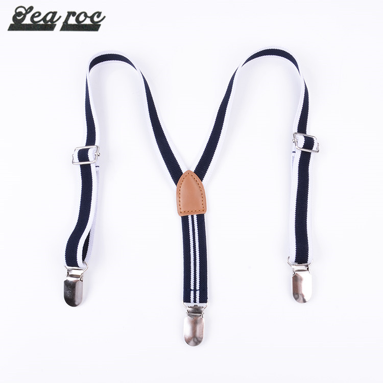 Guangzhou manufacturer best selling good black skinny suspenders with belt