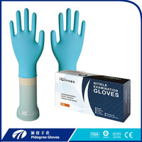 Hairdressing Nitrile Gloves colored glove