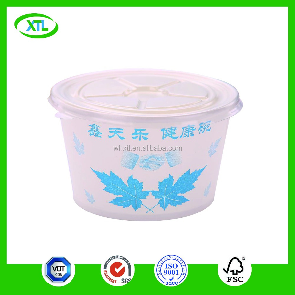 eco friendly box disposable paper bowl customized logo printed soup bowls for lids