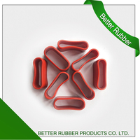 rust red silicone seal oval seal