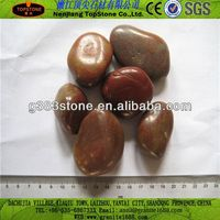 Natural Polished Pebble Stone from China(Hot Sale) gas fireplace