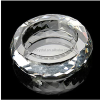 2016 hot sell crystal k9 round cut crystal ashtray round crystal ashtray