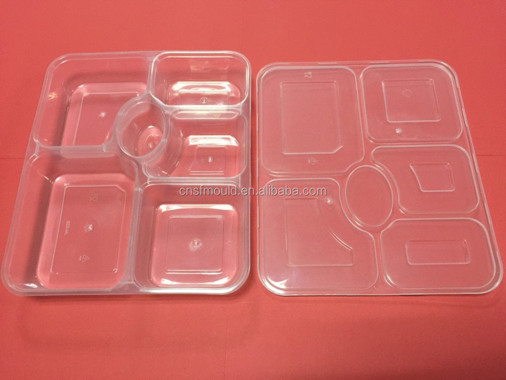 Compartment Lunch Box Thinwall Container mould; Thin wall plastic injection mold; Disposable Containers