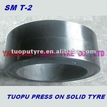 TOPOWER flat pattern press on solid tyres 28x16x22