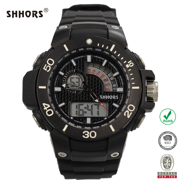 SHHORS Hot Cool Gift Digital Chrono Double Movt Water Resist Watches Men