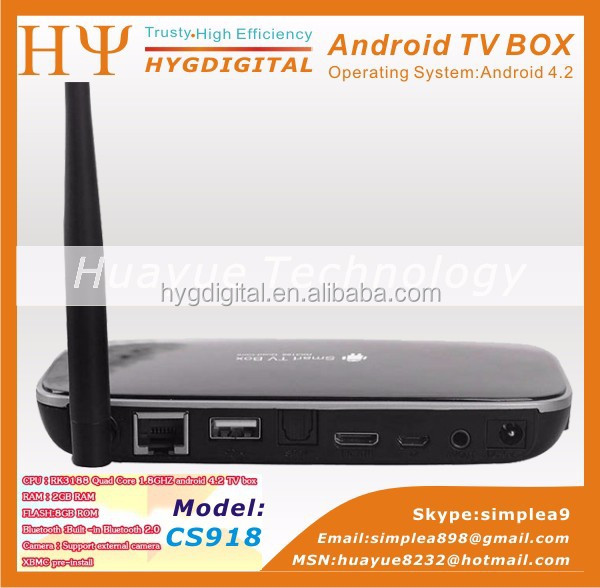 Cs918 Android Tv Box With Xbmc Cs918 Tv Box For Cs918 2g 8g Quad Core Google Android 4.2.2 Tv Box,