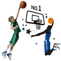 Basketball wallpaper eco-friendly sports child real three generations of wall stickers Extra Large 60*90cm