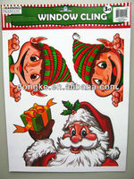 china proffesional supplier PP christmas stickers on window