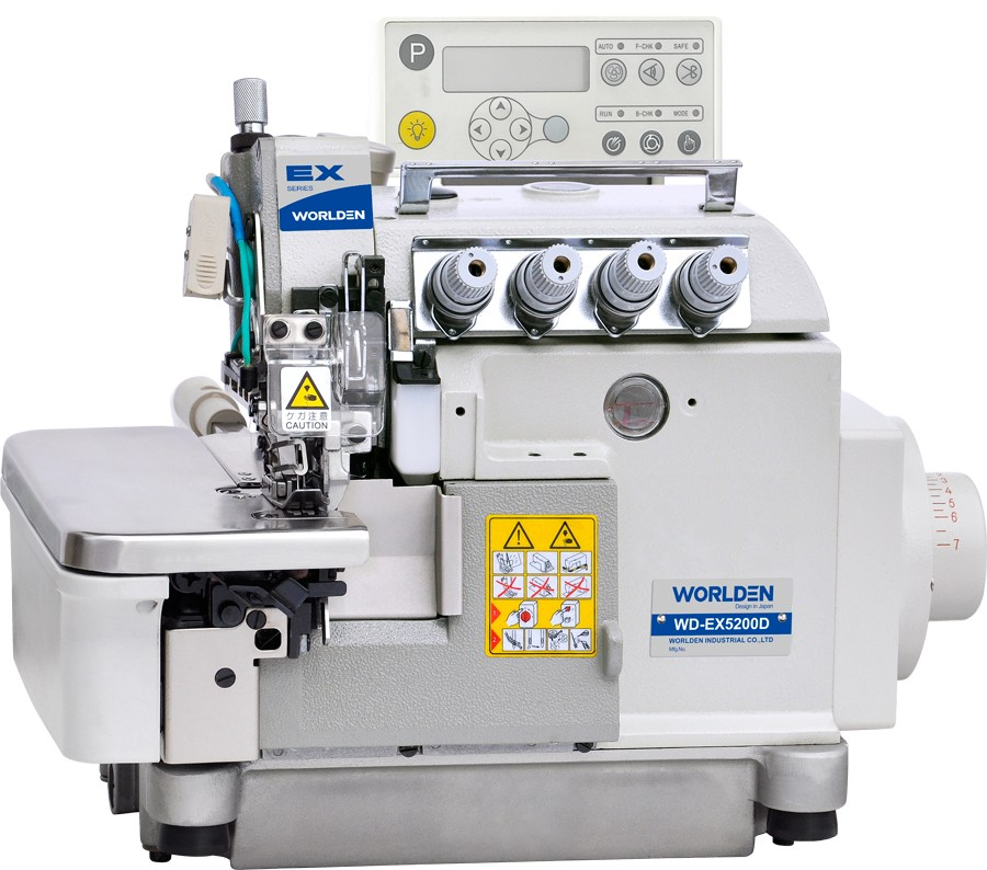 EX-5200D Full Automatic Computerized Flat Lock OEM Over lock China Sewing Machine Price in Pakistan Overlock Sewing Machine