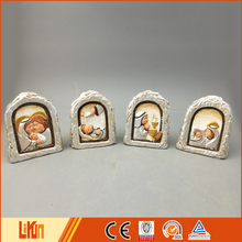 OEM service colorful painted pottery home decoration nativity set crafts