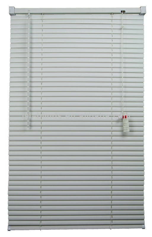 samll PVC venetian blinds with iron head rail