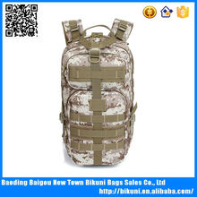 Custom hunting camo canvas army military tactical backpack assault pack