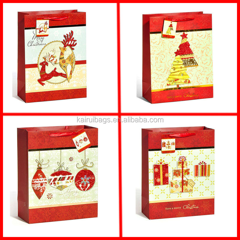 wholesale Christmas tree gift bag , Christmas gift paper bag, christmas ball gift bag