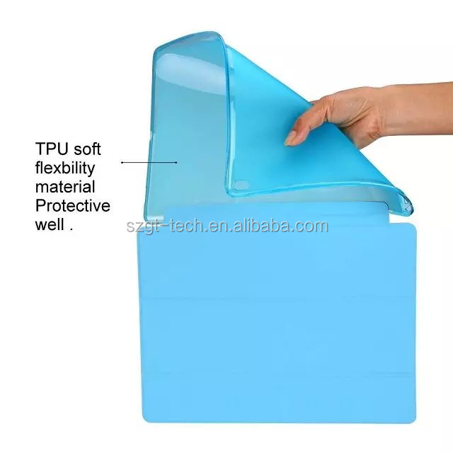 Smart cover with Soft TPU back cover for iPad Pro