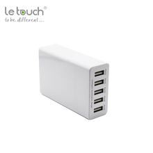 Trade assurance CE FCC RoHS approved 5 port portable mobile smart usb wall charger