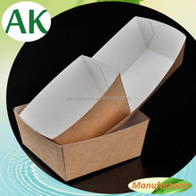 Custom Rectangle Frence Fish and Fries Chips Paper Box/Burger Kraft Paper Container