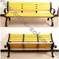 WPC Garden Bench with Backrest