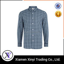 Custom fashion blank stripe cotton long sleeve plaid pictures of men formal shirts