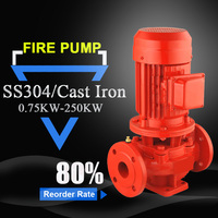 vertical multistage pipeline fire pump 13hp inline water booster pump residential