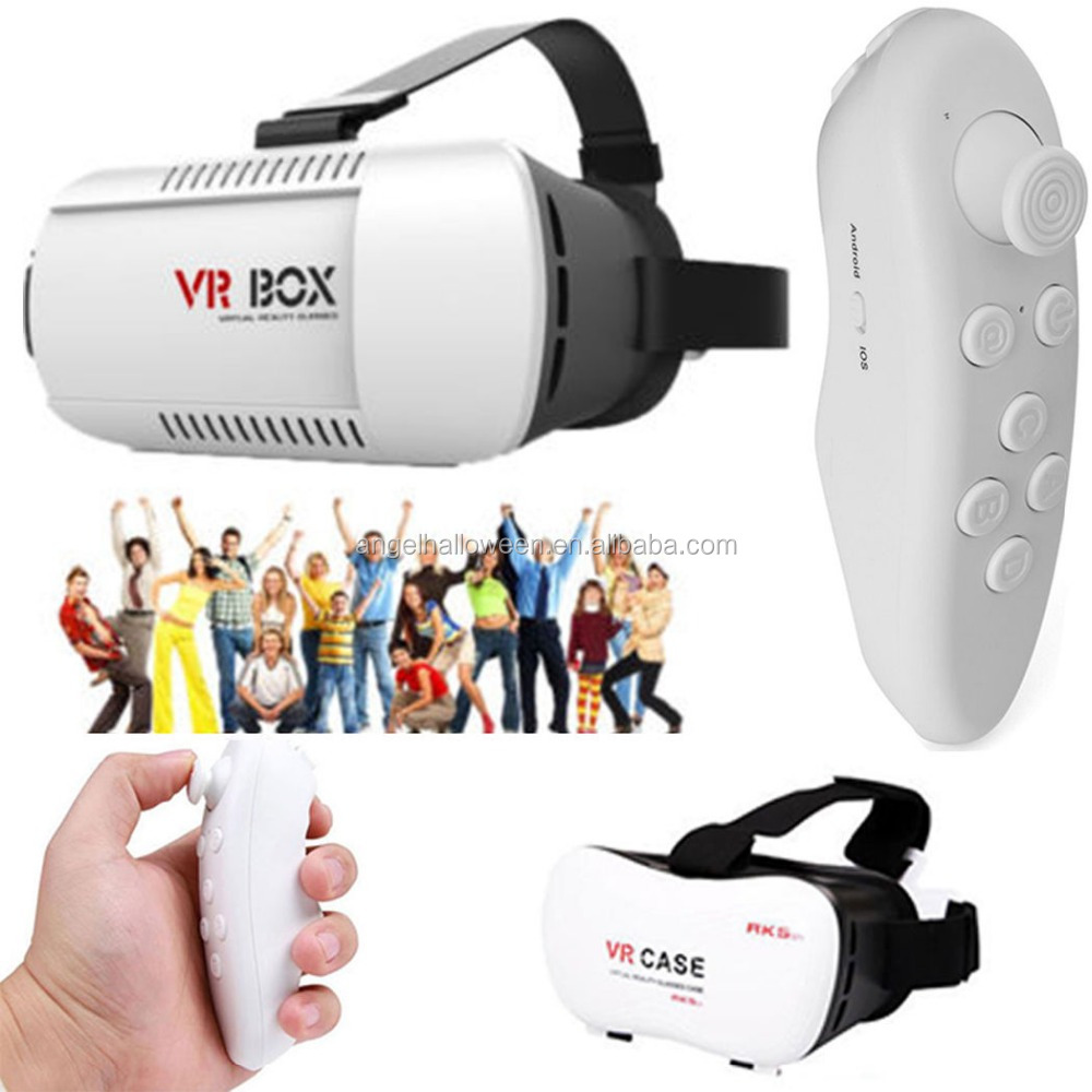 3D Bluetooth Virtual Reality Glasses VR BOX Game Remote Control For Phone Iphone VR038