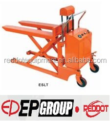 Platform add on Scissor lift Hand pallet truck with electric high lift ESLT with 1-1.5T with CE