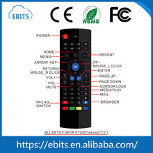 Top selling special design original factory TV used 2.4g wireless MX3 keyboard air fly mouse remote control