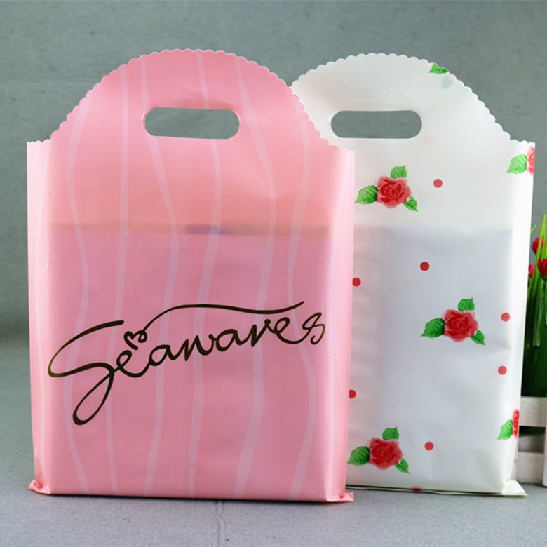 design custom printing import packing plastic bags for clothes