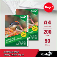 Double-sided matte coated inkjet photo paper