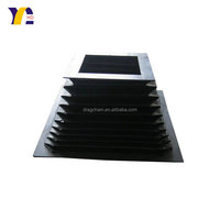 flexible guide way cover accordion rectangular bellows rubber cover