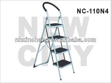 Steel step ladder with 4 steps /steel folding step ladder with rubber feet