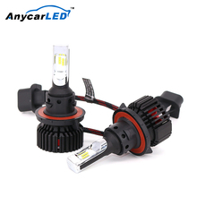 Anycarled 2700K-6500K 9004 H13 H4 headlamp latest high power cob led car headlight 9007 led headlamp 8000 lm