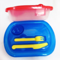 Low Price Promotional Cutlery Included Plastic Lunch Box