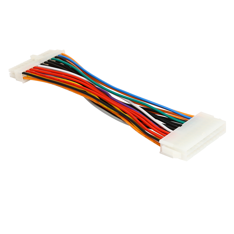 Molex 24 Pin Motherboard to ATX EPS PSU Power Supply Extension Cable,24-pins Internal Power Cord,Male to Female