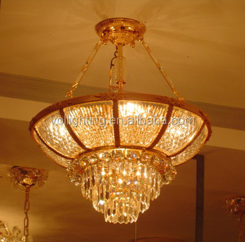 Crystal glass droplight ceiling lamp pendant light