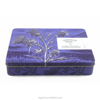 Rectangular Embossed Metal Cookie, Cake Packaging Box