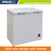 212L double temperature 12v 24v solar refrigerator fridge freezer