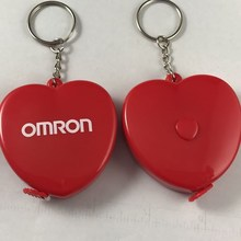 1m, 1.5m ,2m Height Quality Health Keychain Heart Shape Measuring Tape