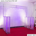 Hight quality! wedding crystal arch silver decorative wedding stage for party and wedding decoration(MAH-002)