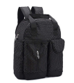 Black 300D Polyester Diaper Backpack Bag Baby with Bottle Bag