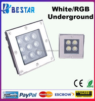 CE RoHS Waterproof LED Underground Spot Light LED Square Floor Light 3W 4W 5W 6W 9W 12W 16W 18W 24W