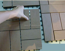 Customer-made multi-options Sauna Deck Tile Board, WPC outdoor deck tile, waterproof interlocking cheap composite decking tiles