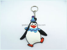 custom hot sale 3d cartoon character soft pvc keyring