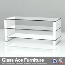 TS12067A Blanc MDF LED TV Cabinet