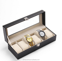 Royal watch storage box, leather watch cases for unisex