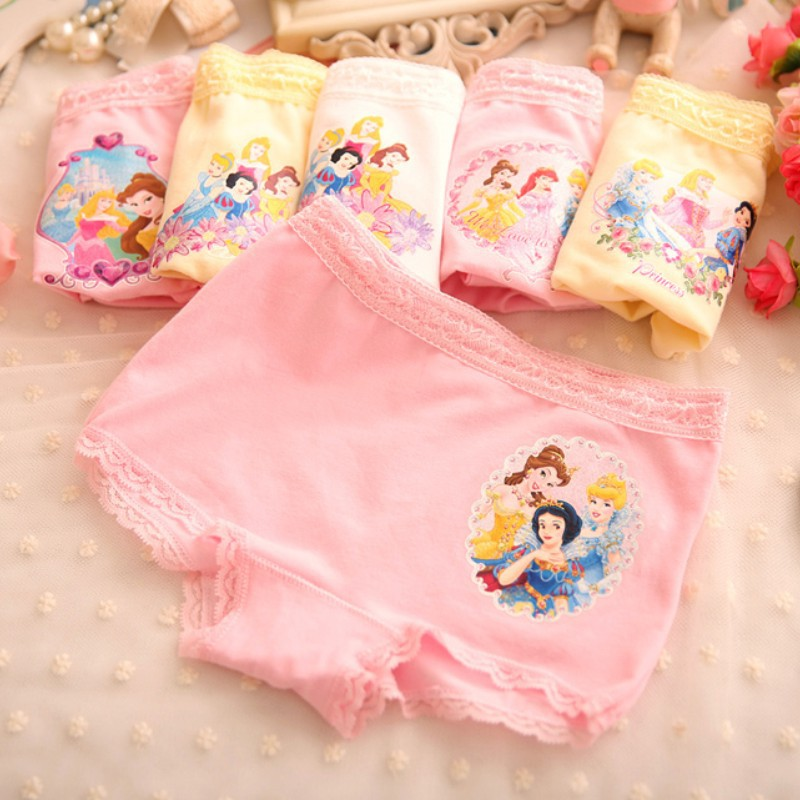 Kids panties cotton cartoon underwear snow white picture briefs for girls